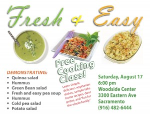 Fresh & Easy, Vegetarian Cooking Class